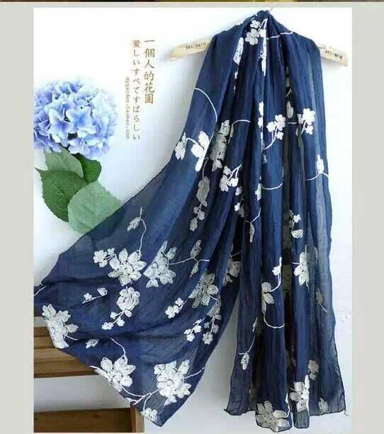 Embroider Scarf Kenzo style