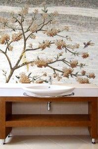 Master Suit Bathroom: Sakura Design Mosaic Tile Patterns ~ Bathroom Inspiration