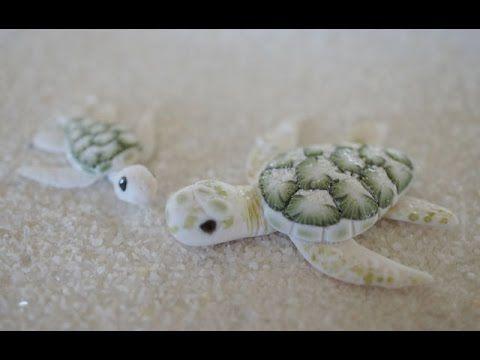 Albino Green Sea Turtle polymer clay tutorial