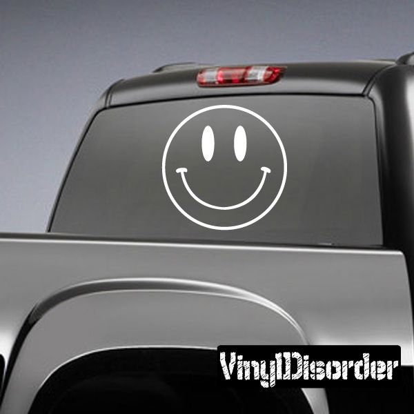 Happy Face Symbol Symbols Vinyl Decal Sticker 007