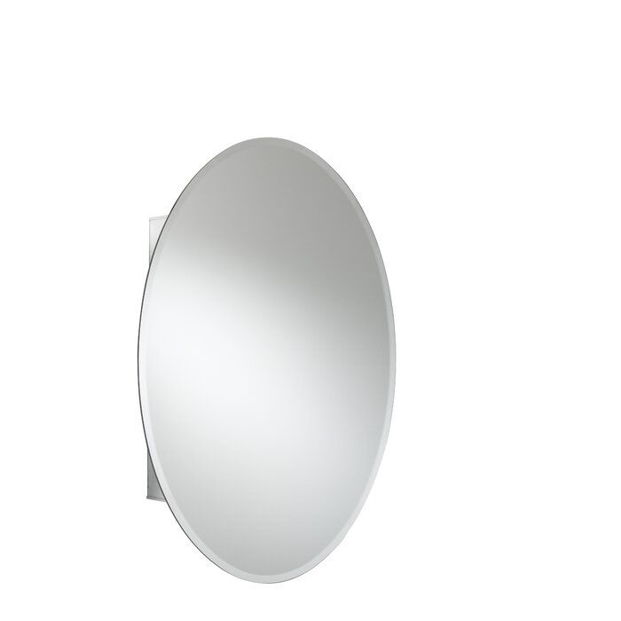 21 X 31 Recessed Or Surface Mount Frameless Medicine Cabinet With 2 Adjustable Shelves In 2020 Adjustable Shelving Surface Mount Medicine Cabinet Mirror Cabinets