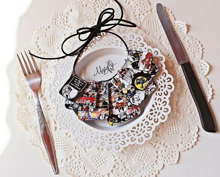 On menu: A l a n  F o r d color 👀🙊 njamiiiii 🍽👌🏻 _______________________ #necklace #alanford #comics #comicbooks #comicbookart #art #jewelry #jewelryporn #jewellery #instalove #fashion #fashionfacts #whatiwore #love #instadaily #photooftheday #follow #madewithlove #lifestyle #style #accessories  #madeinbih  #jerdomacejeumodi  #ogrlica  #sarajevo ❤️
