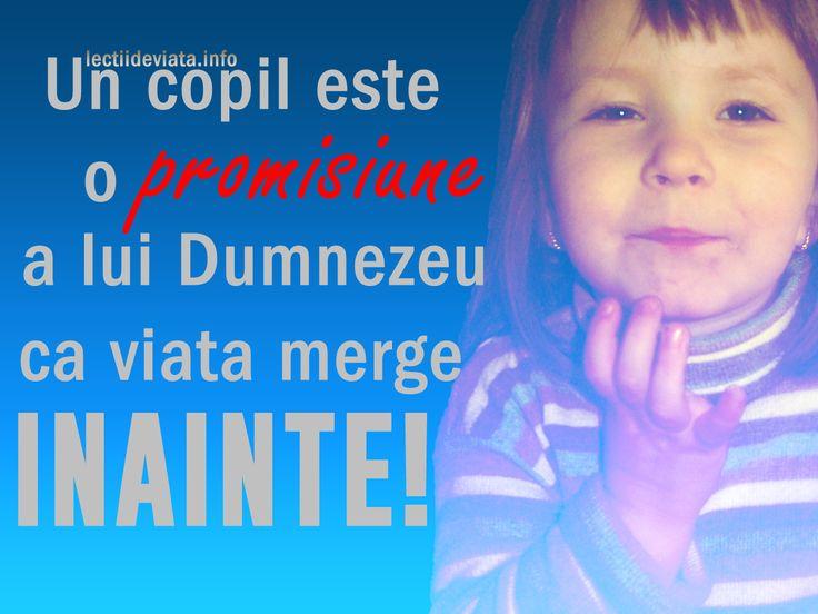 Un copil este o promisiune a lui Dumnezeu | Lectii De Viata