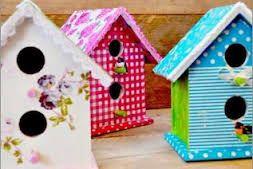 houten vogelhuisjes versieren - Google zoeken