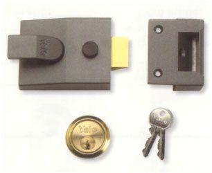 Yale Rim Standard Nightlatch With Cylinder Grey - locks & latches - nightlatches - YALE Rim Standard Nightlatch With Cylinder Grey - Timber, Tool and Hardware Merchants established in 1933