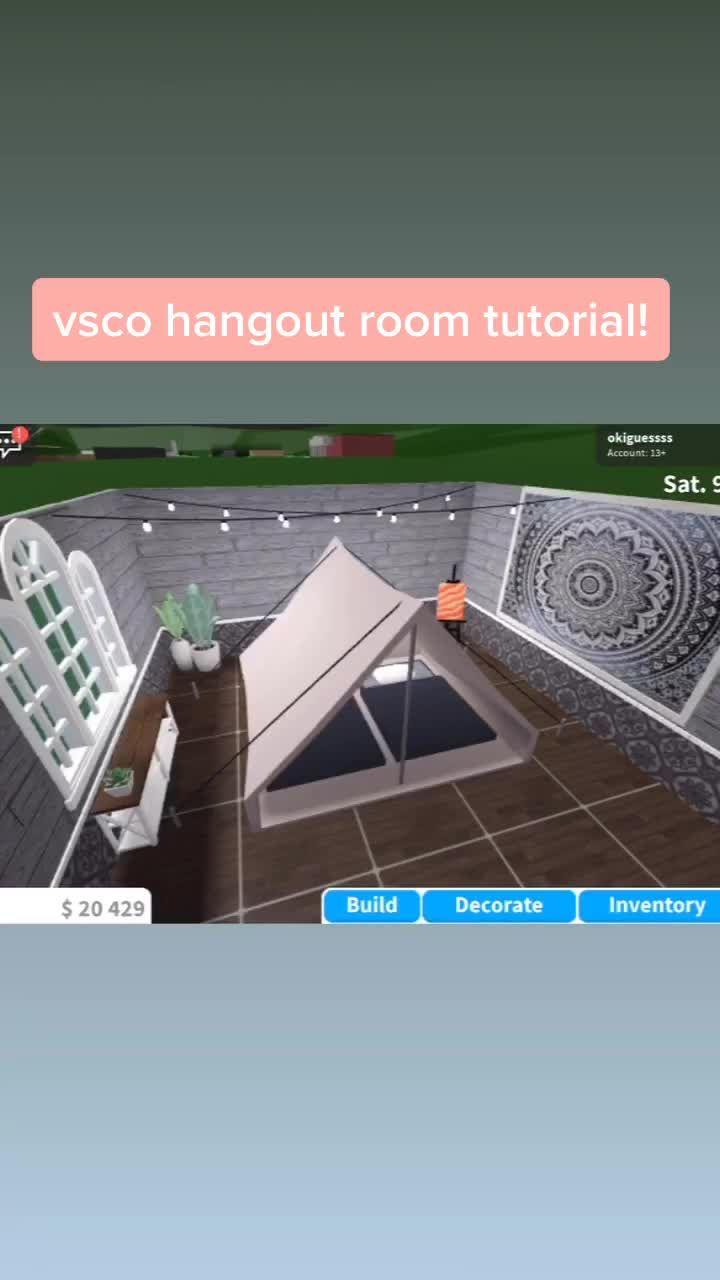 Bloxburg Honeymoonbuilds On Tiktok Vsco Hangout Room Tutorial Hint Search Vsco And Tapestry For The Unique House Design Hangout Room Home Building Design