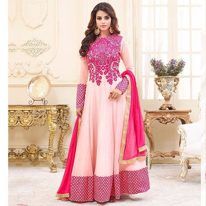 For order and details please whatsapp +91 9878010541📱 . Georgette Heavy Embroidered Light Pink Designer Anarkali Dress. 😍 Product code (1004P2801) . SHOP NOW (Stock Available) 👈 . ✓ Worldwide Shipping ✓ Quality Product ✓ Satisfied Customer Service ✓ Easy Return Policy