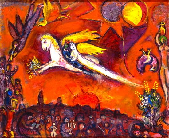 "Marc Chagall - Between Surrealism & NeoPrimitivism - ""Delphine in Paris"""
