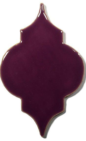 Violet Ceramic Handmade Tile - Marrakesh, glaze  Lilac Flower