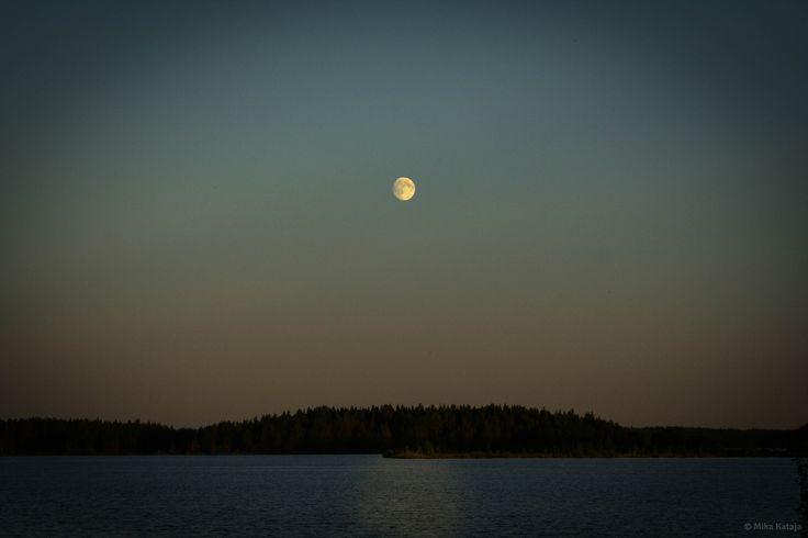 Moonlight over Lake Patana, Finland.