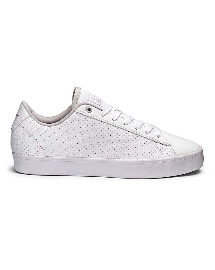 Disfraz bar limpiar  Adidas CF Daily QT CL Womens White Leather Trainers | Trainers women, Girls  shoes, Leather trainers