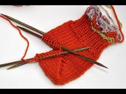 ▶ Socken stricken * Sockenkurs #8 * Bumerangferse Standardmethode Jojoferse - YouTube