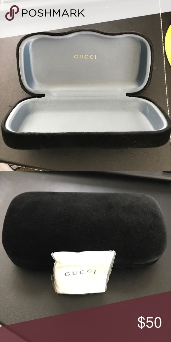 Gucci Sunglasses Case and cleaning cloth NWT