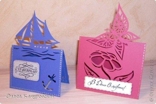Очень нам с детишками понравилось делать открытки. Делали на Новый год бабушке и дедушке. Теперь Ваня мастерит и пробует разные коробочки, открытки, вытынанки, одним словом, творит. Тася тоже не отст…