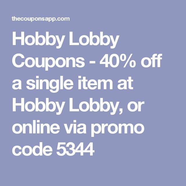 Hobbylobby.com coupon code