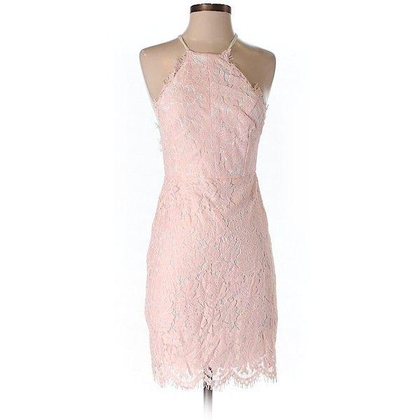 TOBI Cocktail Dress ($35) ❤ liked on Polyvore featuring dresses, light pink, light pink dresses, pink cocktail dress, pink dress, nylon dress and light pink cocktail dress