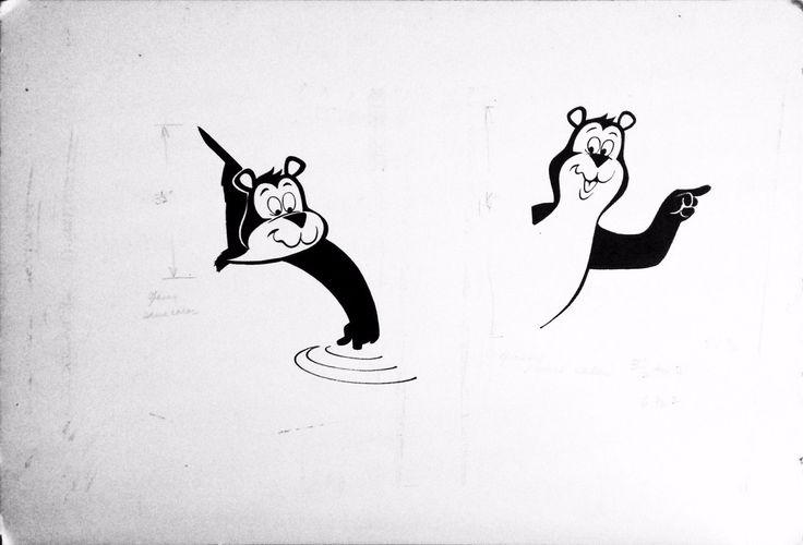 The Hamm's Bear Pointing Original Art by Ray Tollefson Hamm's Beer Hamm'S | eBay