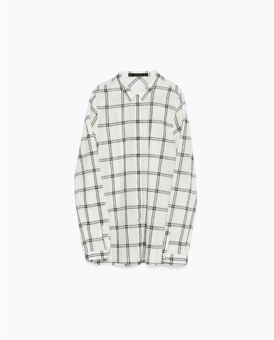 Image 6 of CHECK SHIRT from Zara