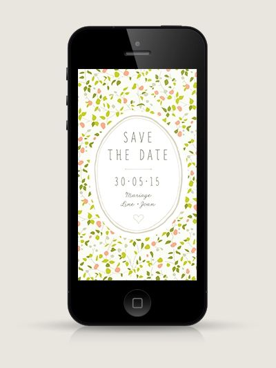 Save the date électronique : Ipomée