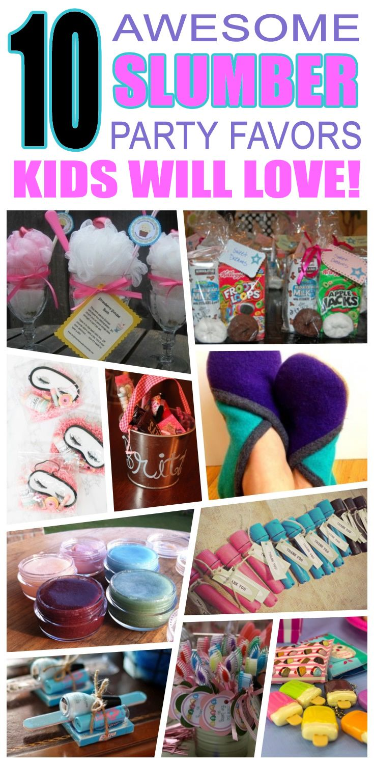 Great slumber party favors kids will love. Fun and cool slumber birthday party favor ideas for children. Easy goody bags, treat bags, gifts and more for boys and girls. Get the best slumber birthday party favors any child would love to take home. Loot bags, loot boxes, goodie bags, candy and more for slumber party celebrations.