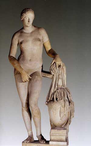 AFRODITE CNIDIA - Prassitele - copia romana di un originale marmoreo del 360 a.C. - arte classica - conservata ai musei vaticani (Roma)