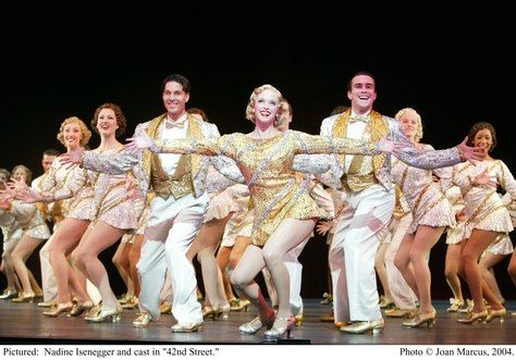 42nd Street Classic Broadway dance.  I saw the revival on 42nd street!