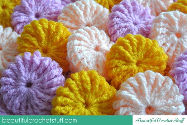 Yo-Yo Puff Step-by-Step Tutorial http://beautifulcrochetstuff.com/yo-yo-puff-step-by-step-tutorial/