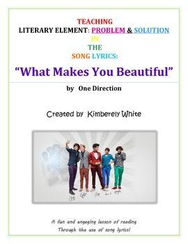 Use Song Lyrics to Teach Literary Elements!!  {Problem & S