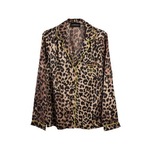 Silky leopard blouse love stories Julian S - www.lovestoriesintimates.com - Love Stories Intimates