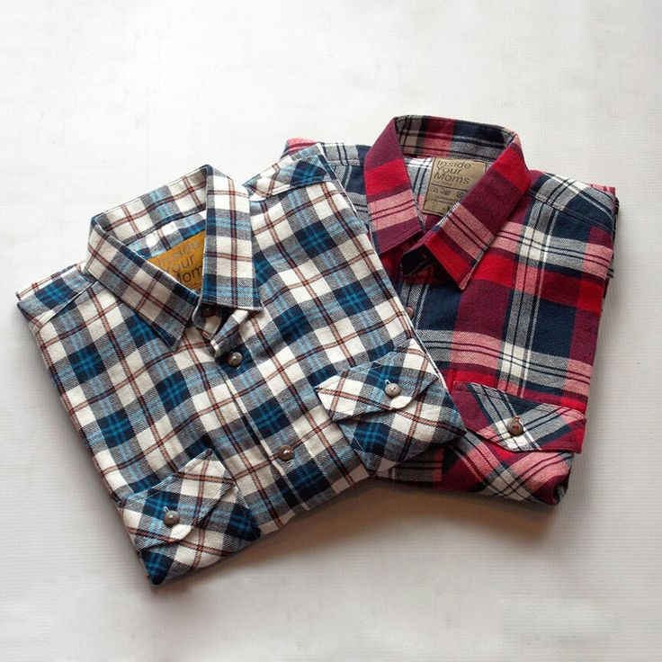 Flannel shirt red blue from DIYM.OVT - http://bit.ly/rbck2015