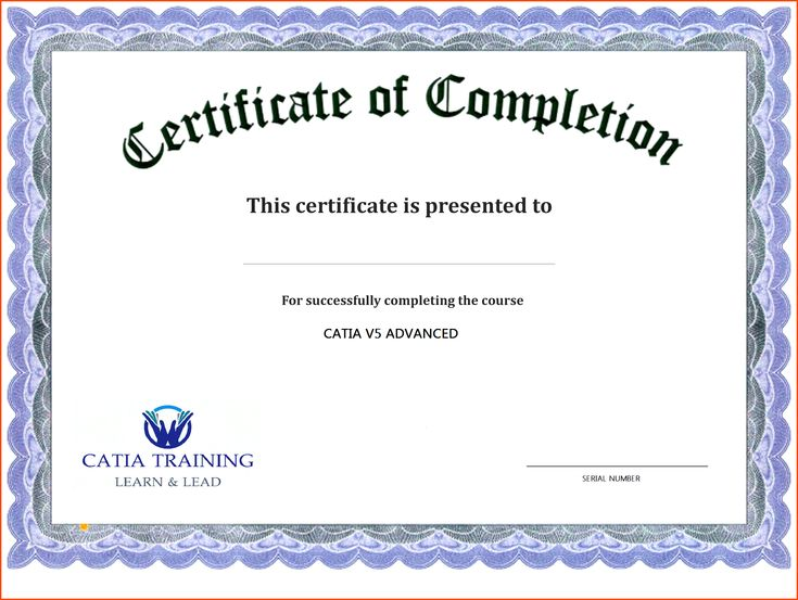 format of course completion certificate