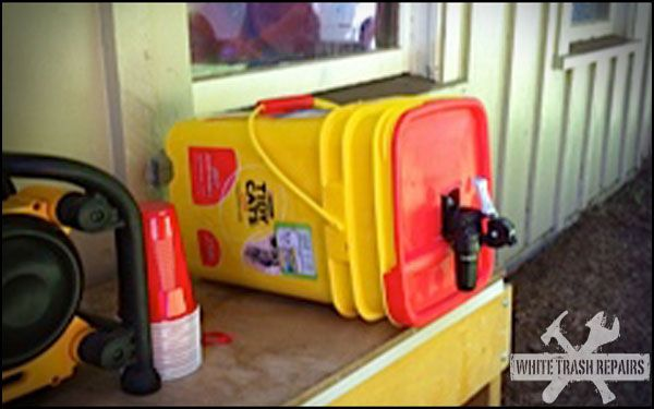 Tidy Cat kitty litter container for a pony keg