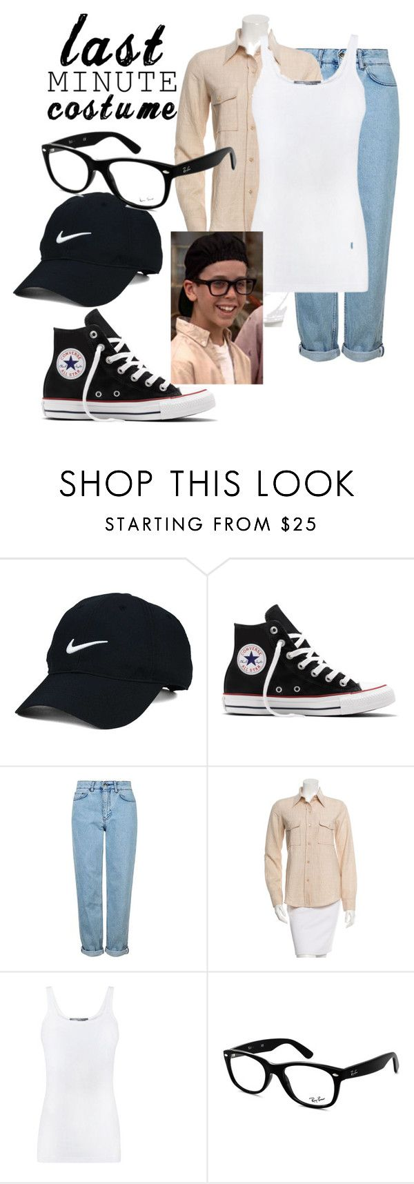 """Last Minute Costume Squints from The Sandlot"" by itzibitzi06 ❤ liked on Polyvore featuring Nike Golf, Converse, Topshop, Derek Lam, Vince and Ray-Ban"