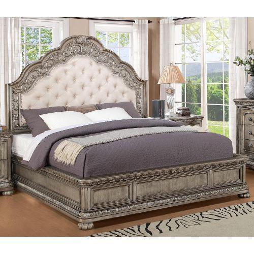 1957PANELBED60  San Cristobal  Silver California King Bed