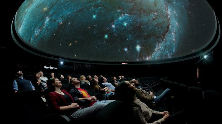 People in auditorium at Planetarium at the Royal Observatory in Greenwich