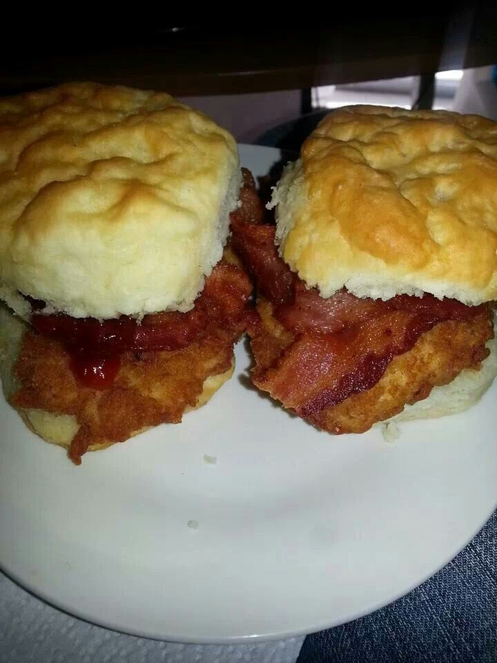 My chick Fla  chicken bacon biscuits