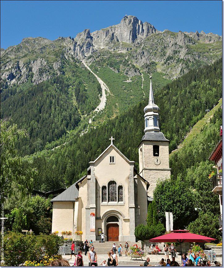 église Saint-Michel de Chamonix Mont-Blanc, sous le Brévent