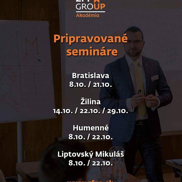 Pozrime sa,  čo nás čaká v mesiaci október. #zfp #zfpa #seminar #vzdelanie #financie #slovensko #slovakia #akademia #skola #oktober #2017
