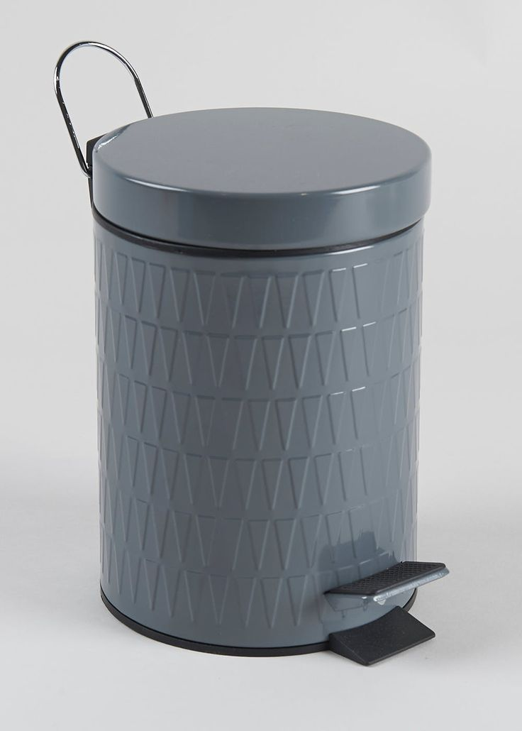 £7 Matalan This retro style pedal bin in grey is a fantastic size with an easy hands-free opening and has a ridged design making it an attractive piece to stand alone...