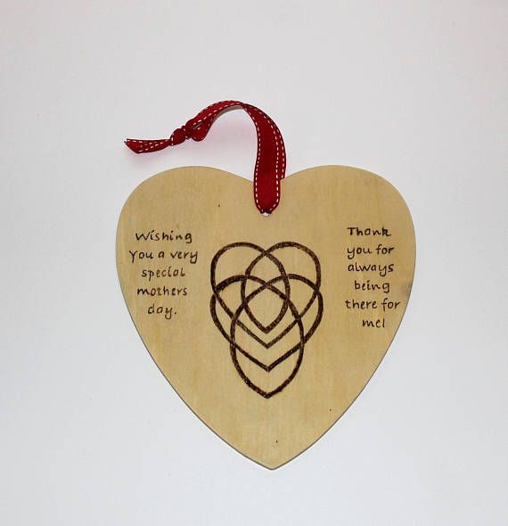 Large Mothers Day Wooden Heart Plaque Auntie Gifts Mothersday