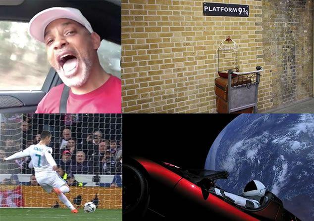 Vídeos virales: el secreto del penalti de Cristiano al PSG Will Smith cantando La Bamba el andén 9 3/4 y un coche en el espacio