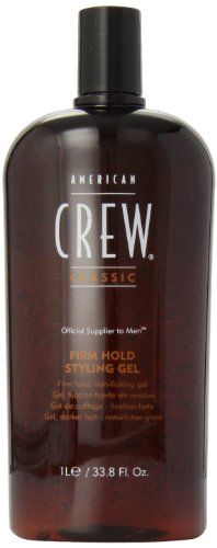 American Crew Firm Hold Styling Gel, 33.8-Ounce Bottle AMERICAN CREW http://www.amazon.com/dp/B002N5MIF0/ref=cm_sw_r_pi_dp_z7.pvb0QR78J7
