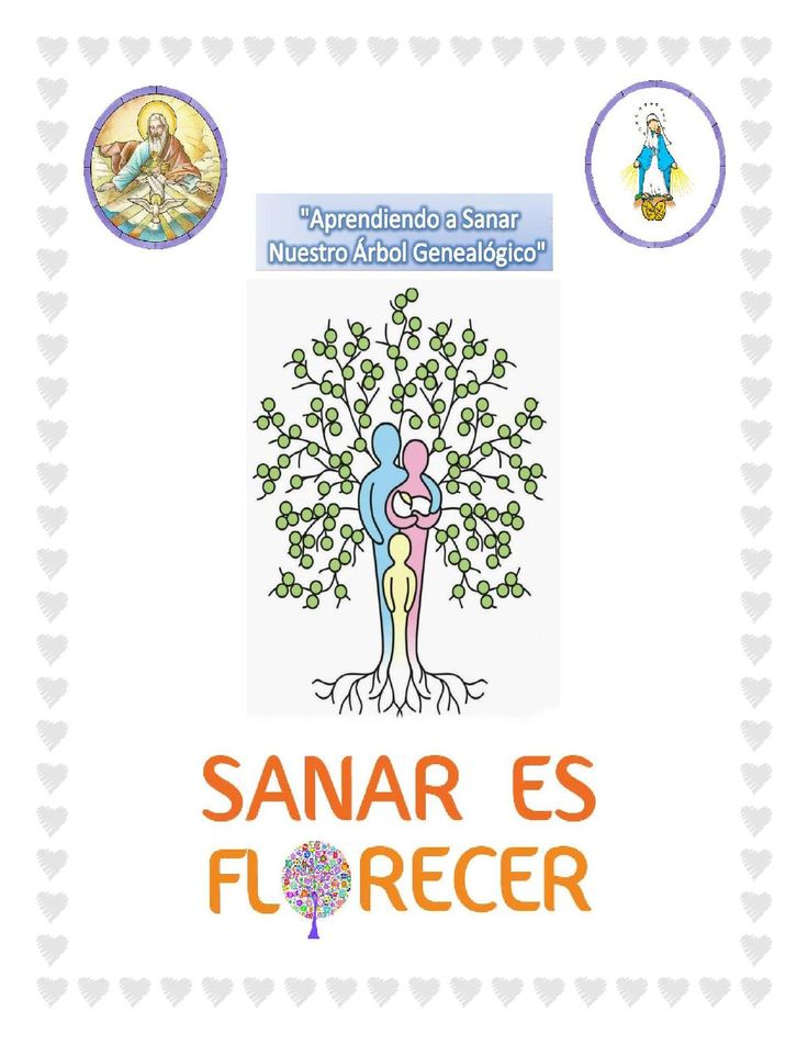 """SANAR ES FLORECER - Sanación intergeneracional  Guía de Sanación de Árbol Genealógico a través de la Fe católica, basada en el libro """" Sanando mi árbol genealógico del Padre John Hampsch."""