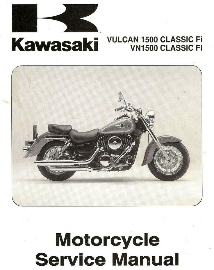 2000 Kawasaki Vn1500 Vulcan 1500 Classic Fi Motorcycle Service Manual Vn1500n1 Kawasaki Vulcan 1500 Kawasaki Vulcan Kawasaki