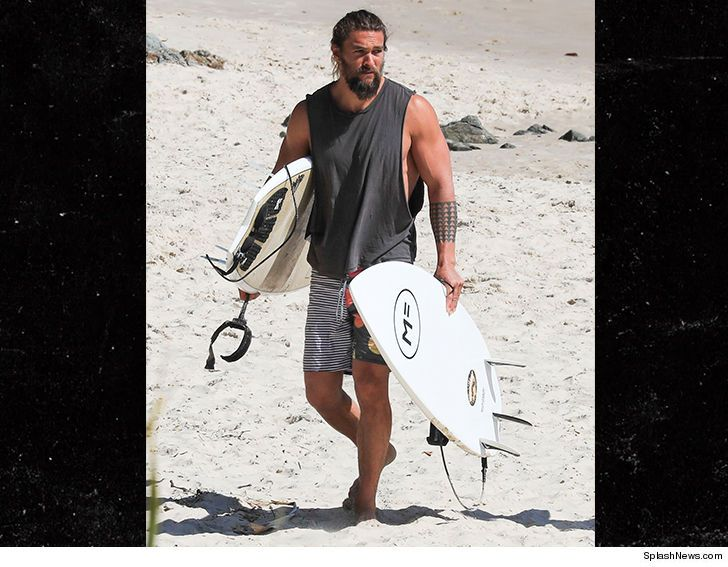 Jason Momoa Spends 'Aquaman' Break with Beer and Surf | TMZ.com