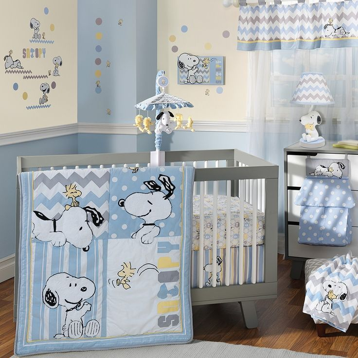 Lambs and Ivy My Little Snoopy Bedding Set