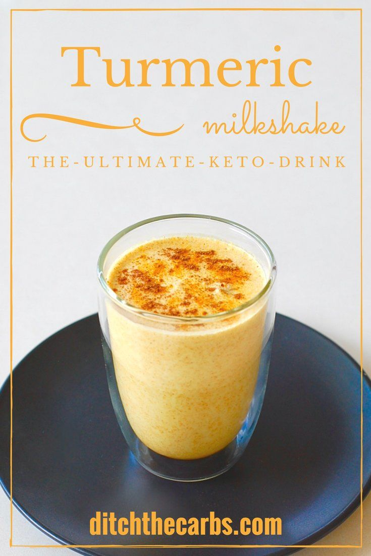 Keto turmeric milkshake - the amazing fat burning drink from The Keto Diet Book. | ditchthecarbs.com via @ditchthecarbs