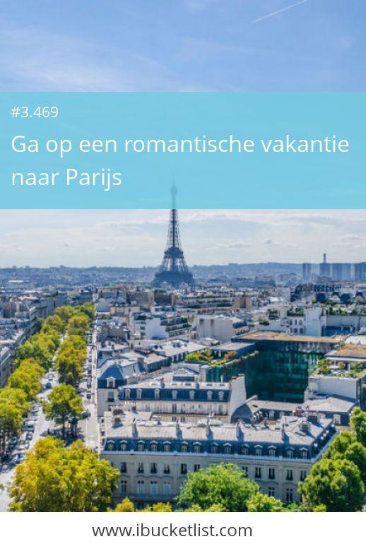 Ga op een romantische vakantie naar Parijs. Wandel door de verschillende buurten, drink koffie in een Frans cafeetje en wandel over één van de vele bruggen. Eet heerlijke gerechten uit de Franse keuken. Daarna wandel je langs de Eiffeltoren voor een romantische kus onder dit bijzondere bouwwerk. Wacht niet tot later. Maak nu je dromen waar! iBucketList