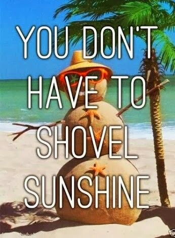 You don't have to shovel sunshine! That is why we #LoveFL #GrandBeachMiami