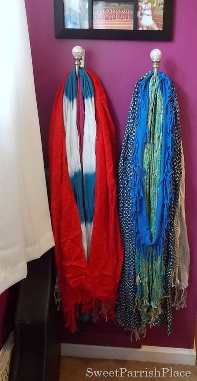 Scarf Organization. Those things that hold back the curtains!